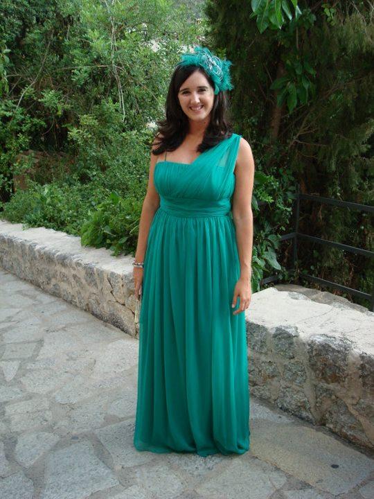 Vestido verde look boda
